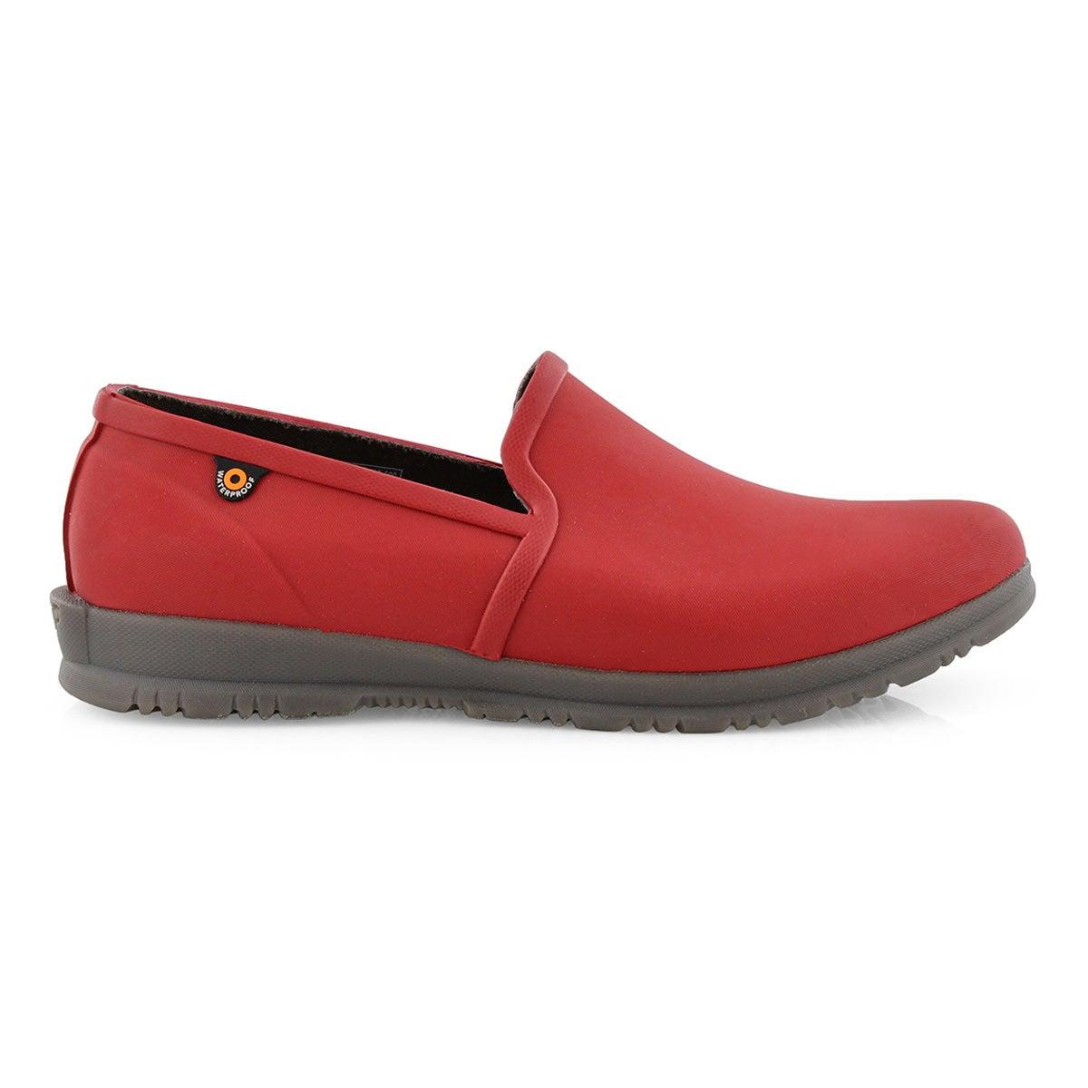 Lds Sweetpea red waterproof slip on