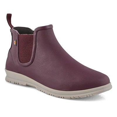 Lds Sweetpea plum waterproof boot