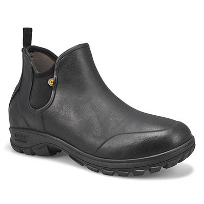 Mns Sauvie black wtpf slip on boot