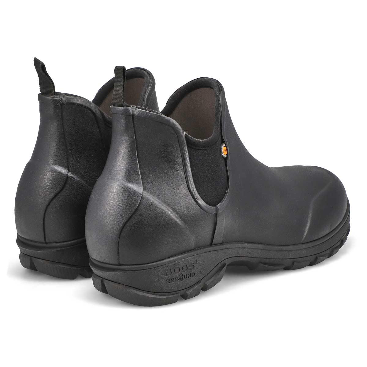 Mns Sauvie black wtpf slip on boot