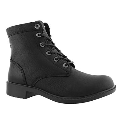 Lds Original blk wtpf lace up ankle boot