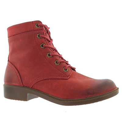 Lds Original red wtpf lace up ankle boot