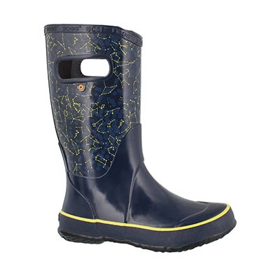 Kds Constellations blu multi rain boot