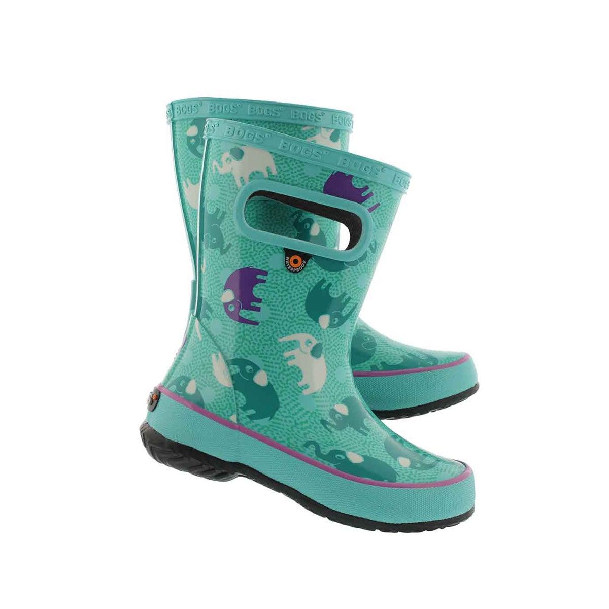 Inf-g Skipper Elephants turq mlti boot