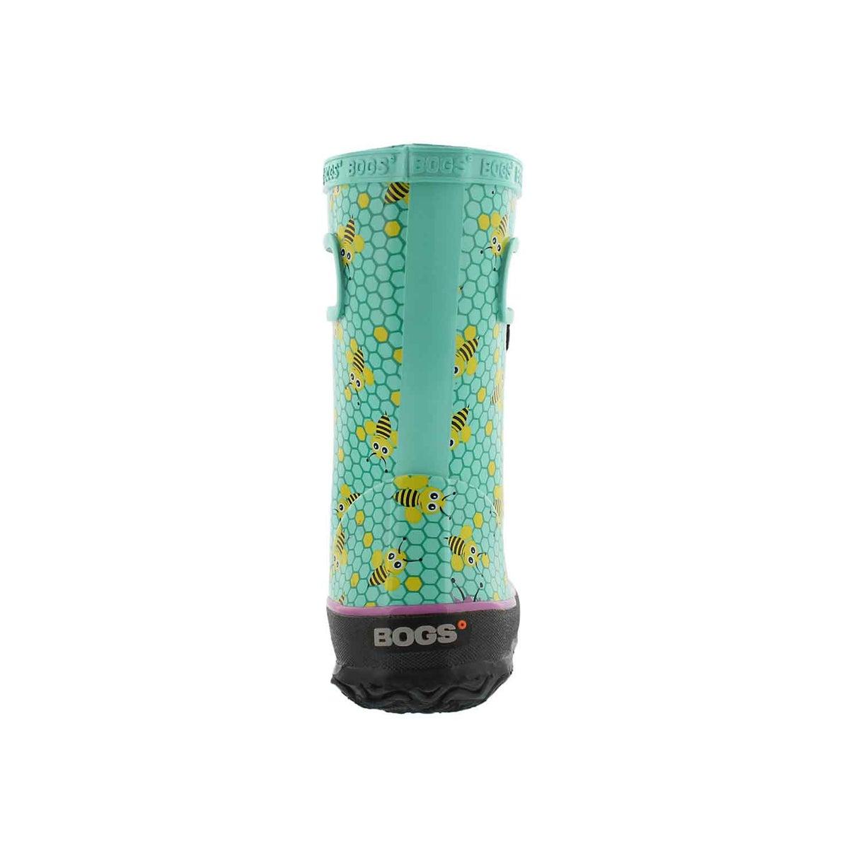 Inf-g Skipper Bees turq mlti rain boot