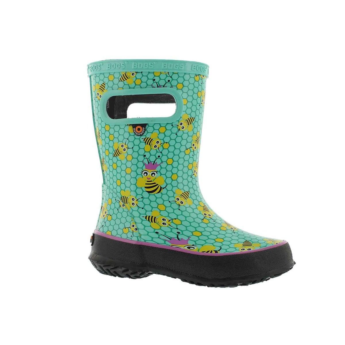 Infants' SKIPPER BEES turquiose multi rain boots