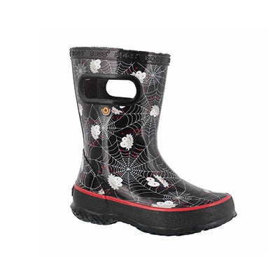Inf-b Skipper Spiders blk mlti rain boot