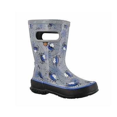 Inf-b Skipper Spiders gry mlti rain boot