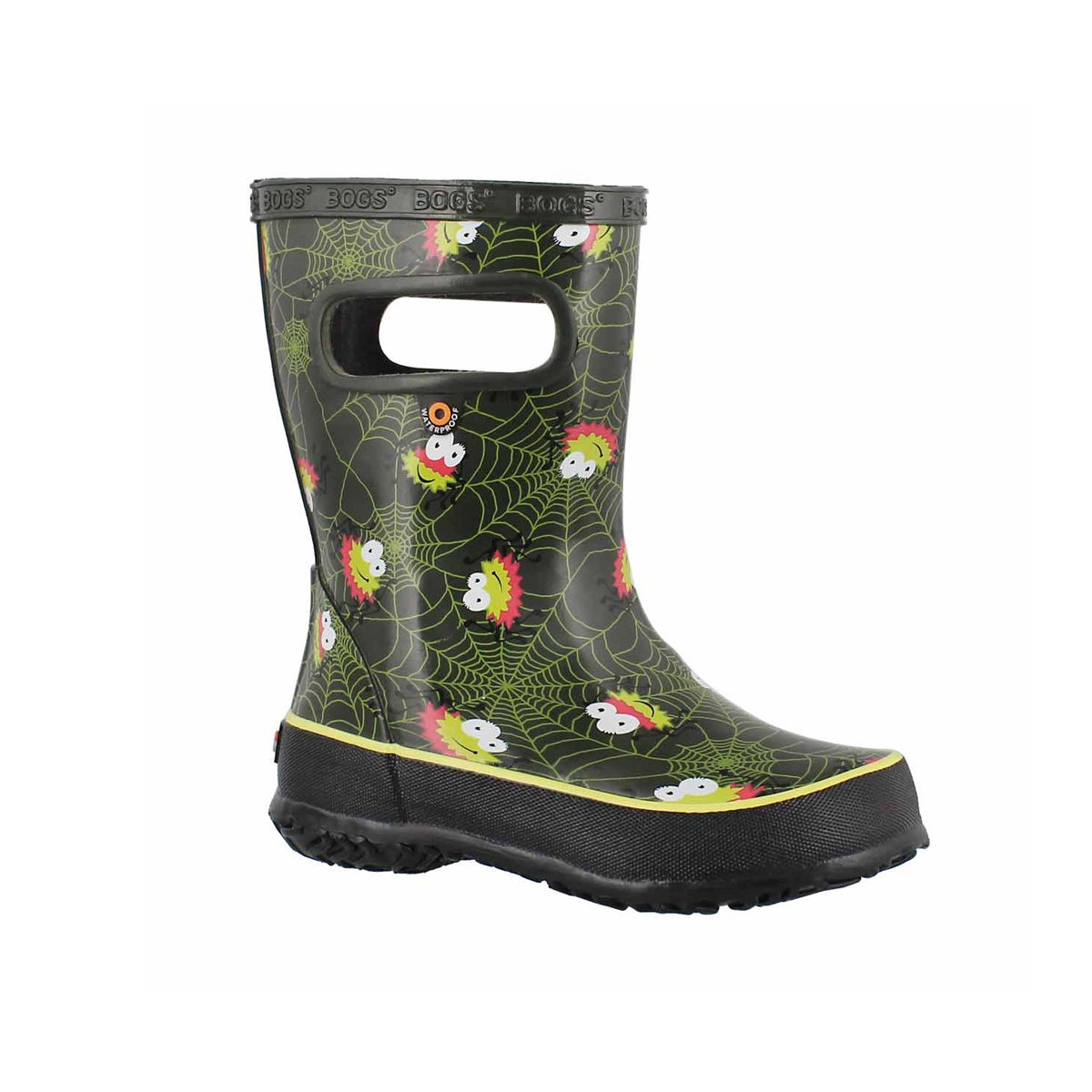 Inf-b Skipper Spiders grn mlti rain boot