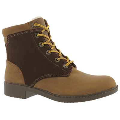 Lds Original Fleece wheat wp laceup boot