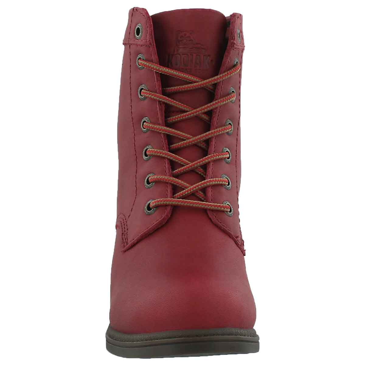 Lds Claire red wtpf lace up ankle bootie
