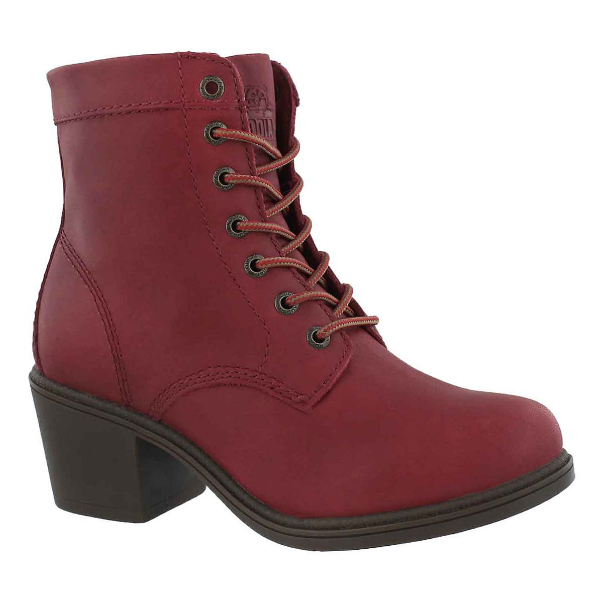 Women's CLAIRE red waterproof ankle booties