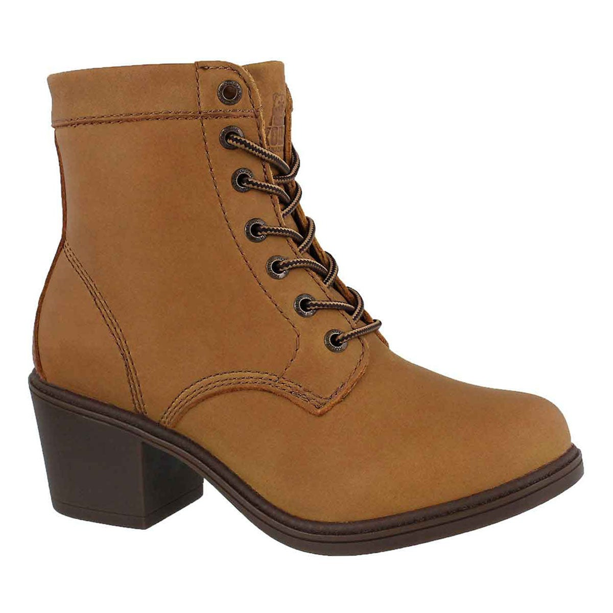 Women's CLAIRE caramel wp lace up ankle booties
