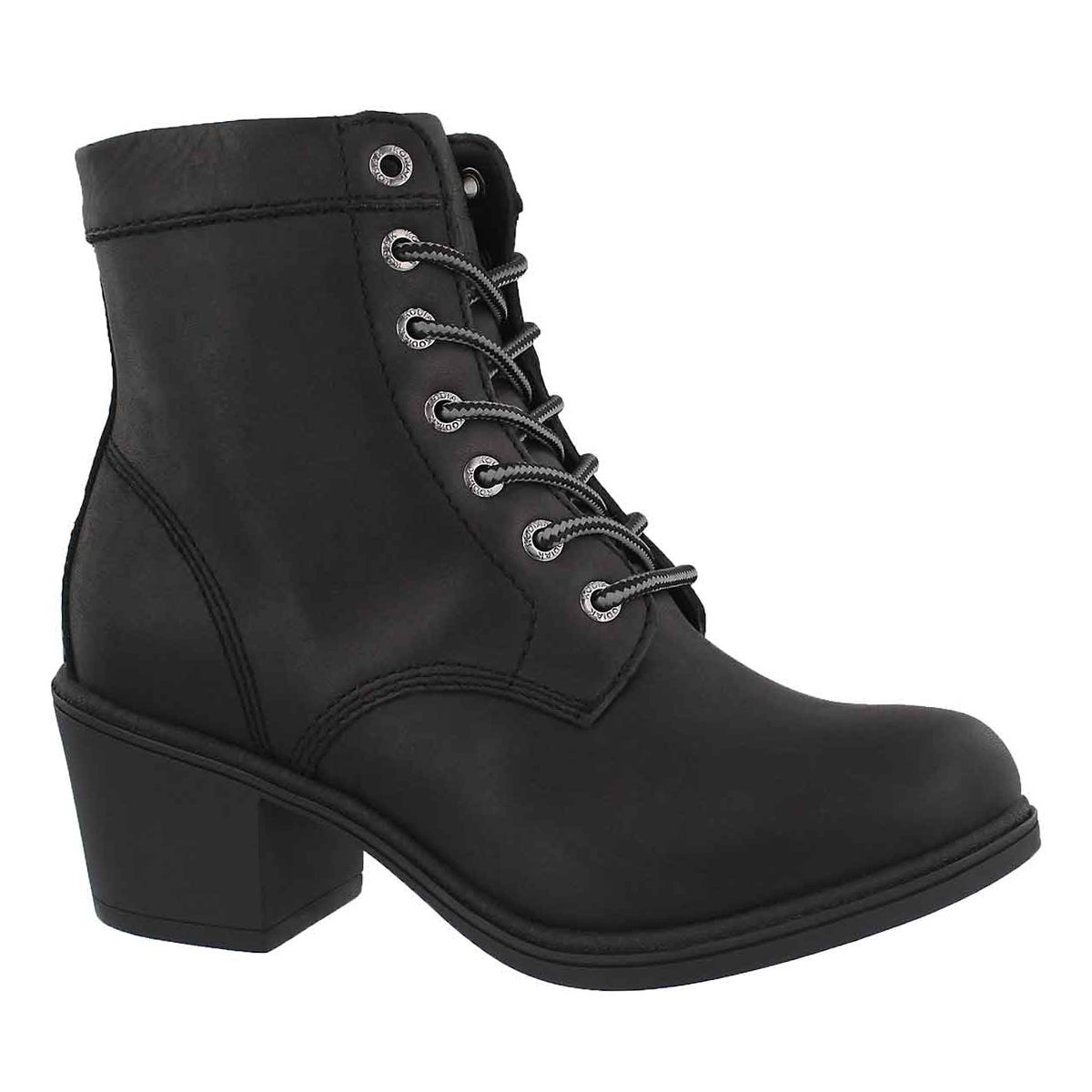 Women's CLAIRE black wtpf lace up ankle booties