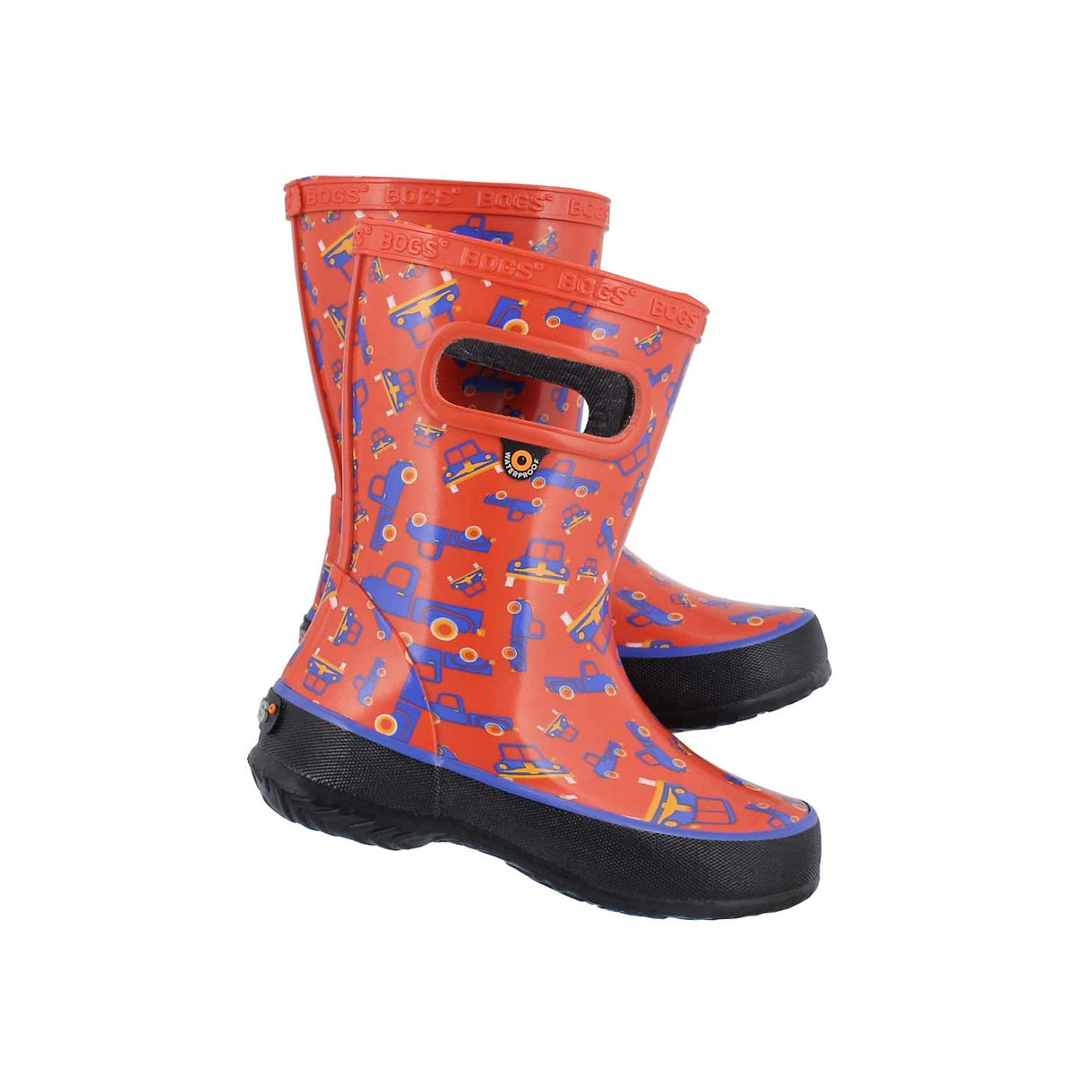 Inf-b Skipper Trucks red mlti rain boot