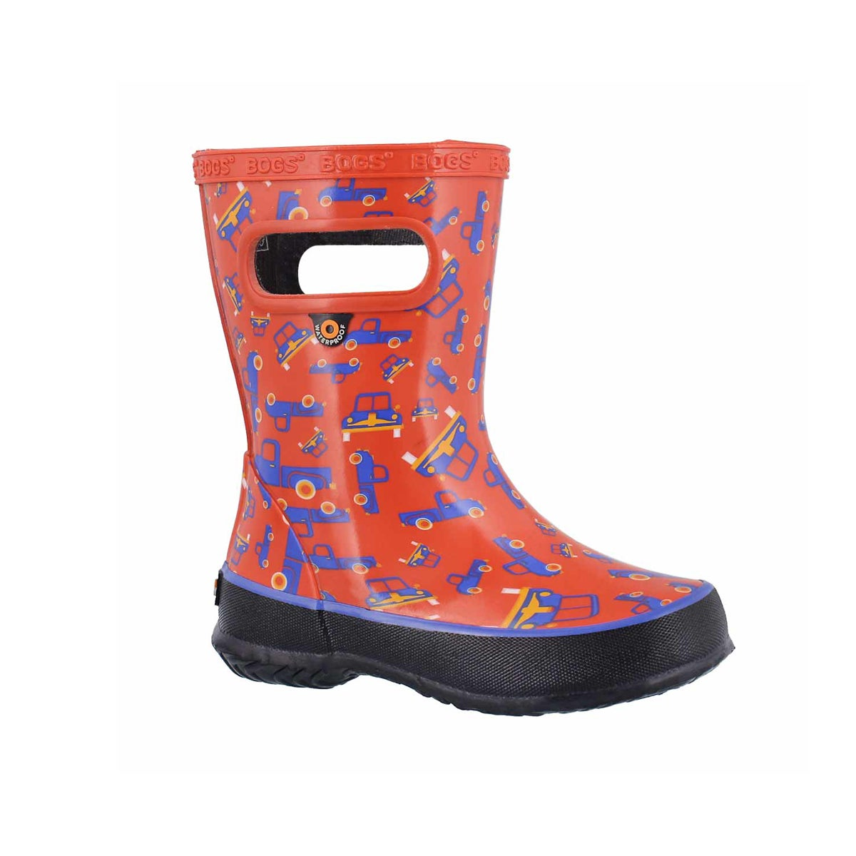 Infants' SKIPPER TRUCKS red multi rain boots
