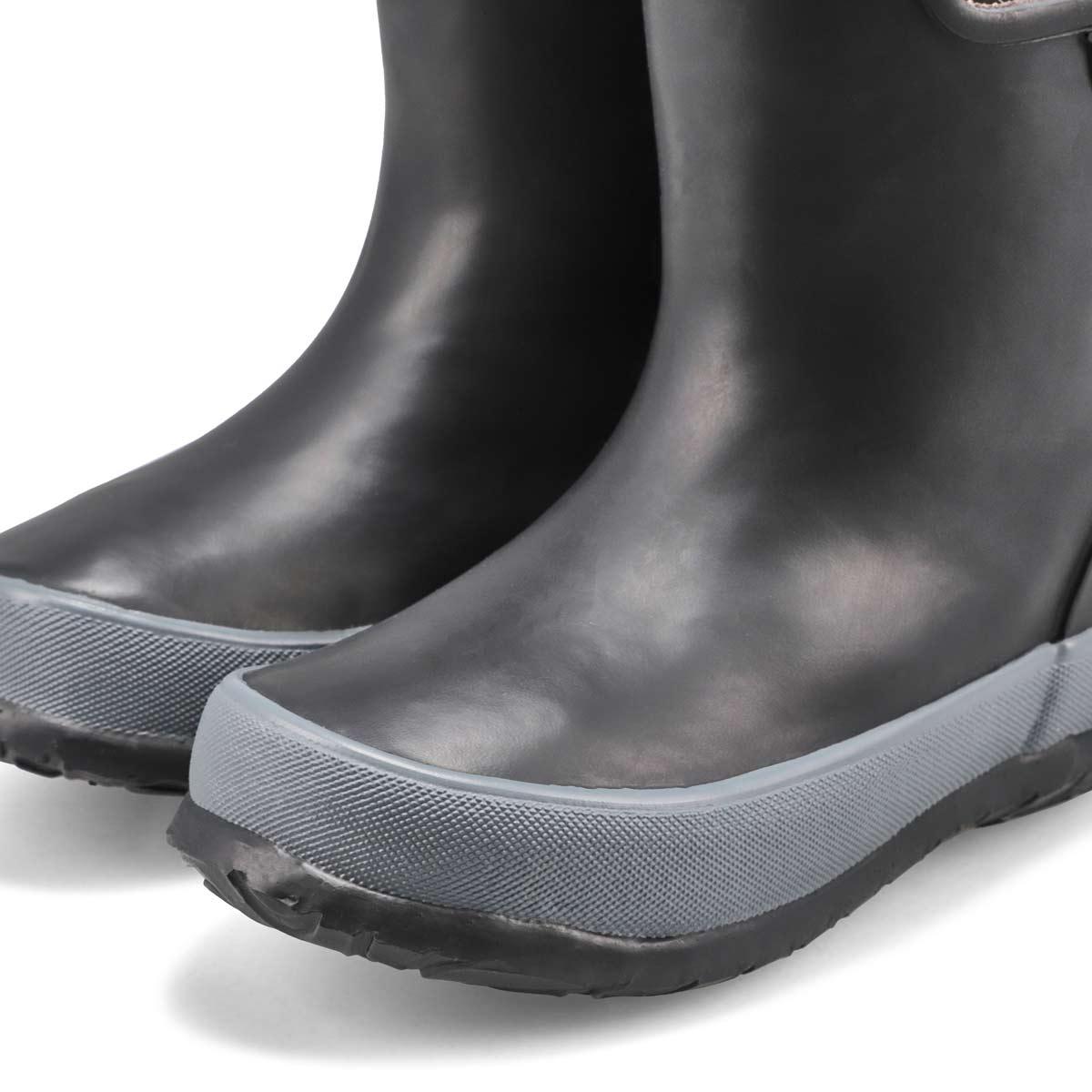 Inf-b Skipper Solid black rain boot