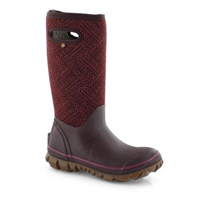 Lds Whiteout Fleck grape wtpf boot