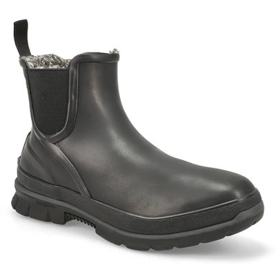Lds Amanda Plush black wtpf chelsea boot