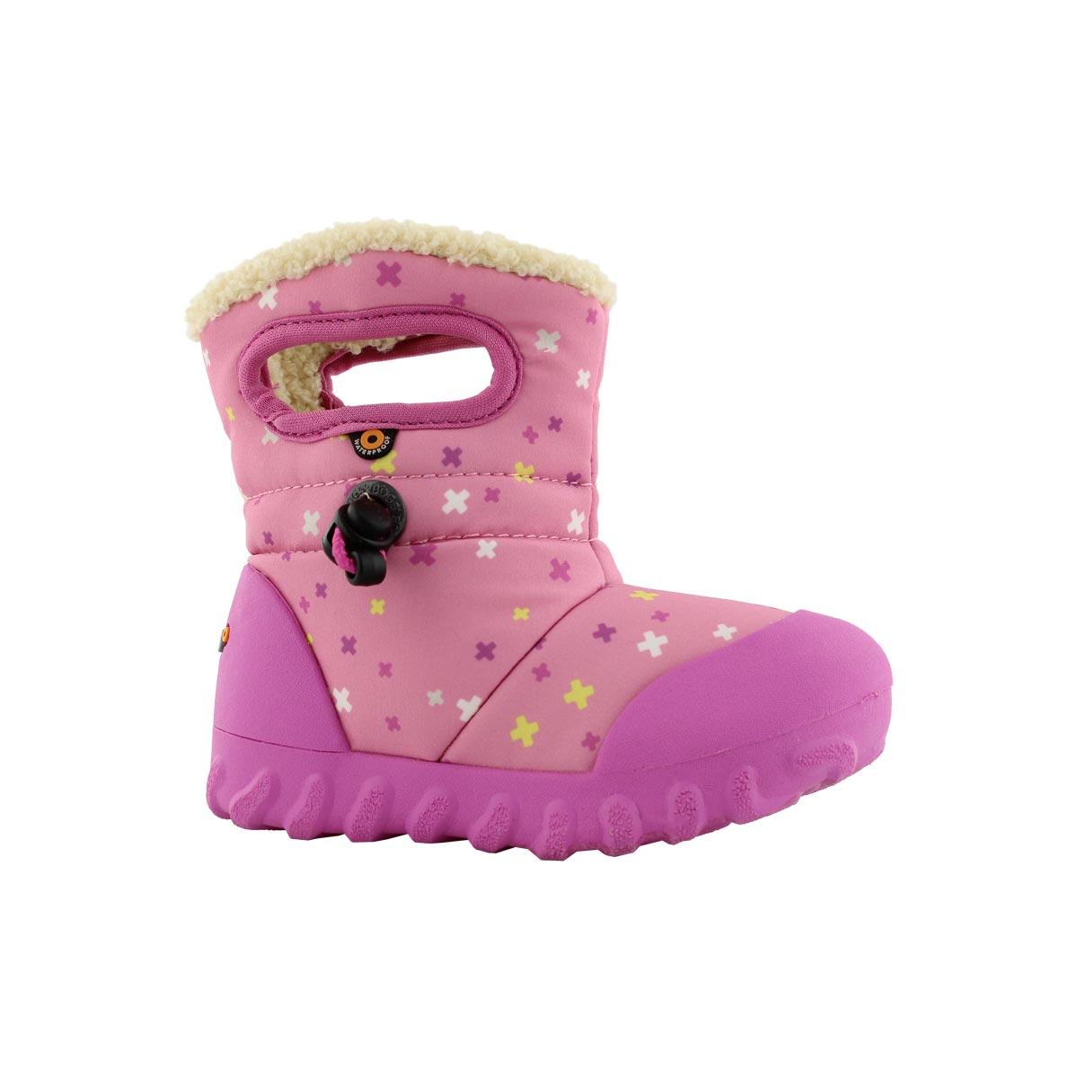 Inf-g B-Moc Plus pink mlti wtpf boot