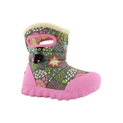 Inf-g B-Moc Reef grey mlti wtpf boot