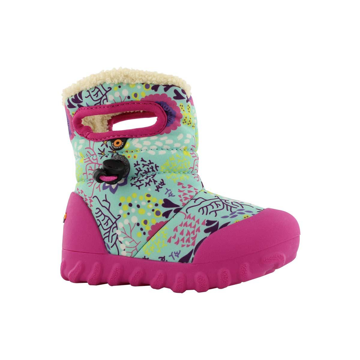 Infant girls B-MOC REEF mint multi waterproof boot