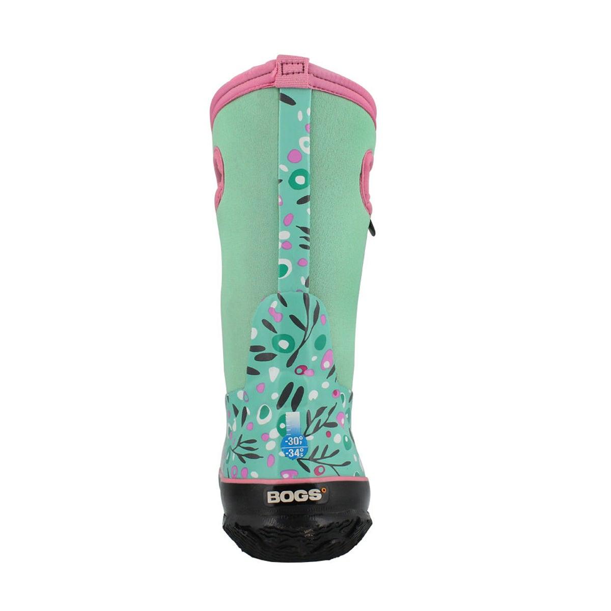 Grls Classic Cattail mint mlti wtpf boot