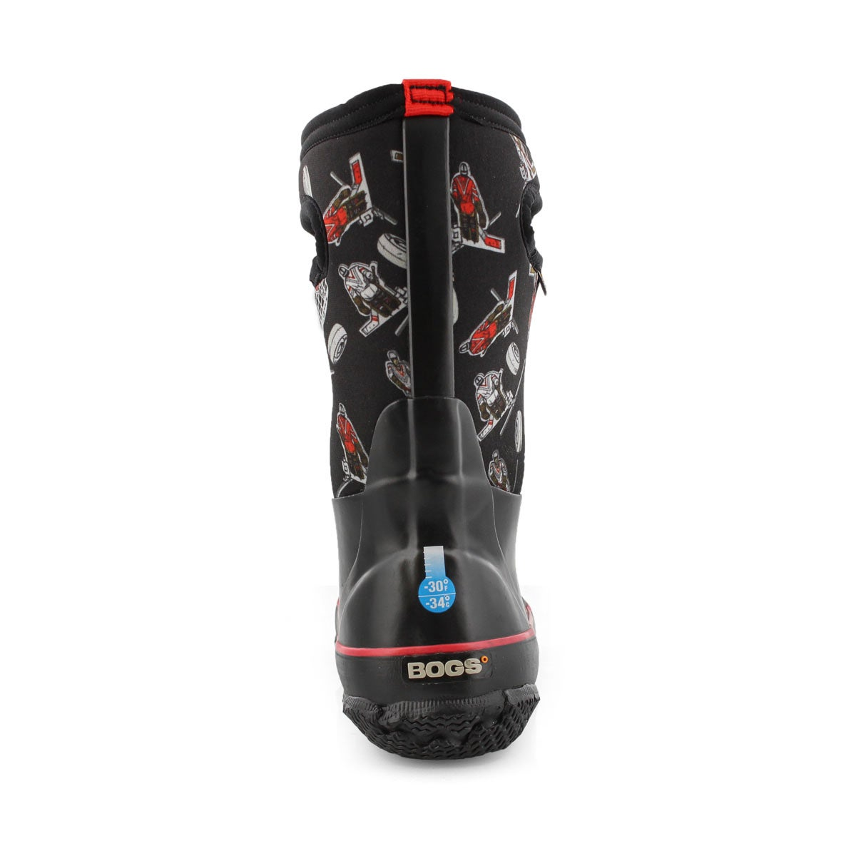 Boys' CLASSIC HOCKEY red multi waterproof boots