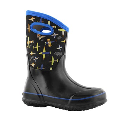 Bys Classic Planes blk mlt wtpf boot