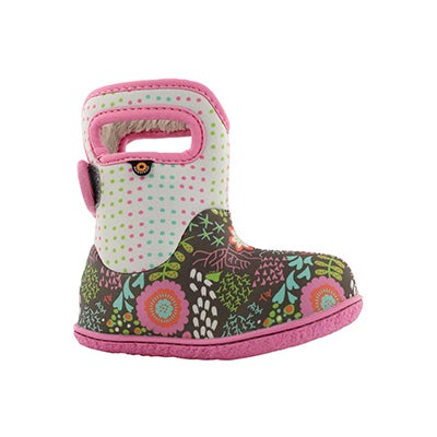 Inf-g Flower Dot grey mlti wtpf boot