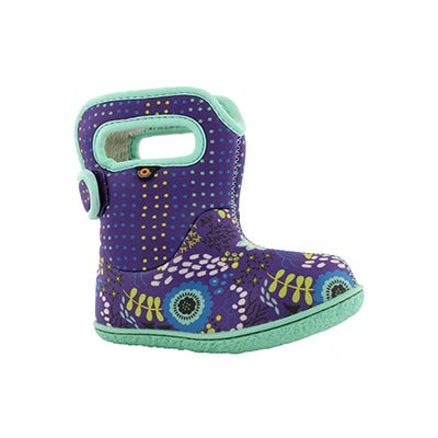 Inf-g Flower Dot violet mlti wtpf boot