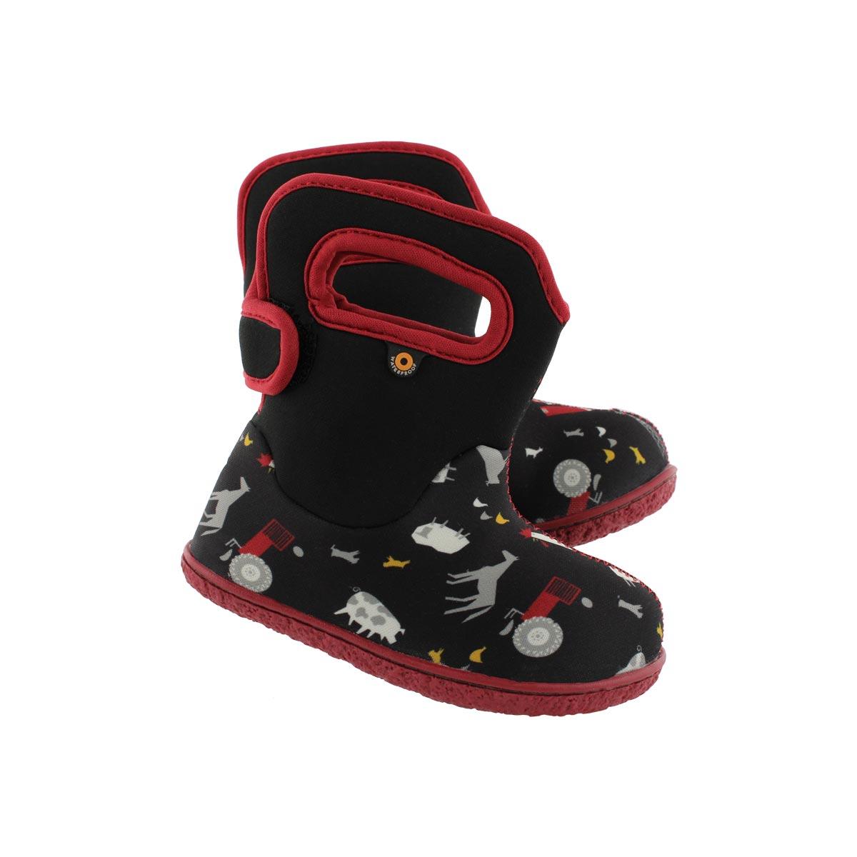 Inf-b Farm black multi wtpf boot