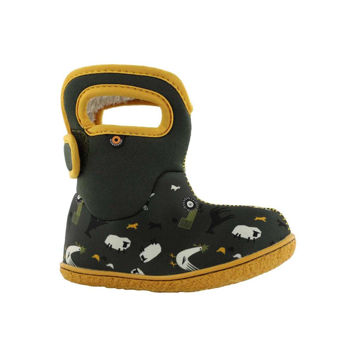 Infant boys FARM loden multi waterproof boot