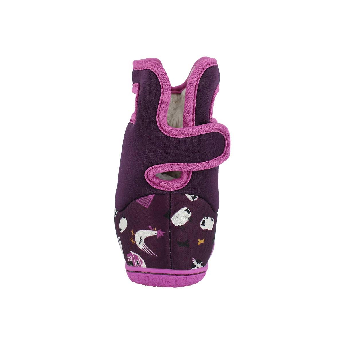 Inf-g Farm purple multi wtpf boot