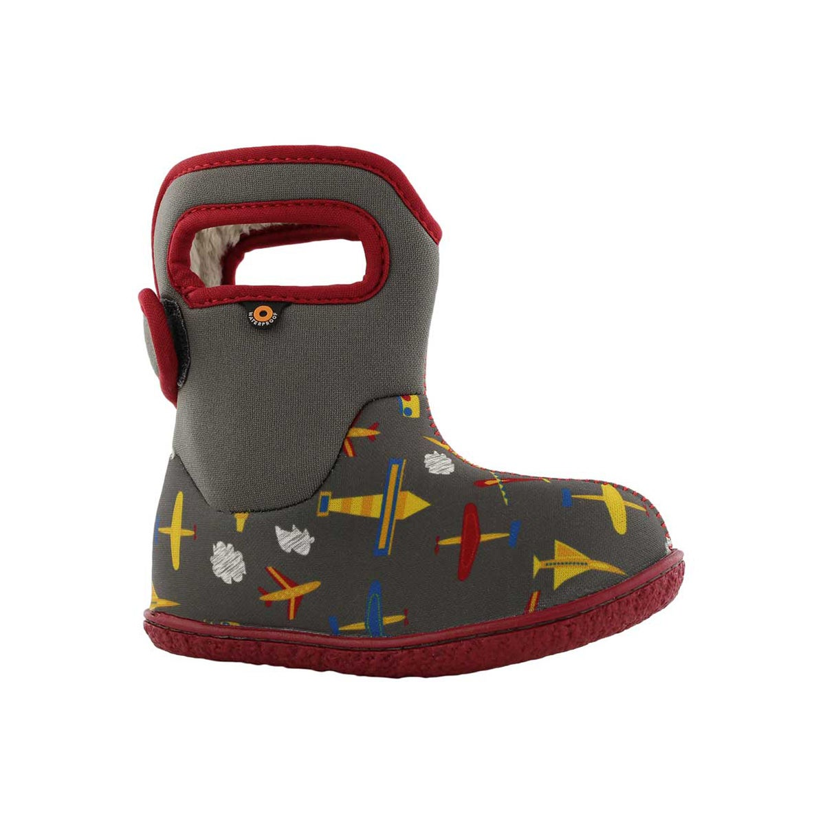 Infant boys PLANES grey multi waterproof boot