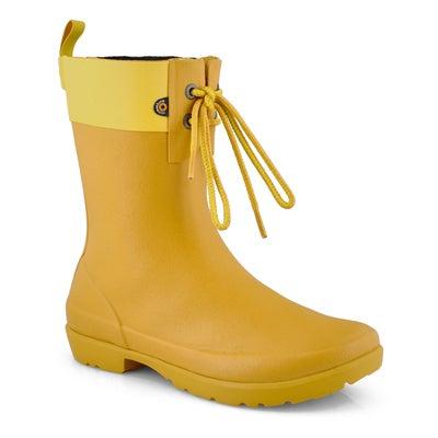 Lds Flora 2 Eye mustard rain boot