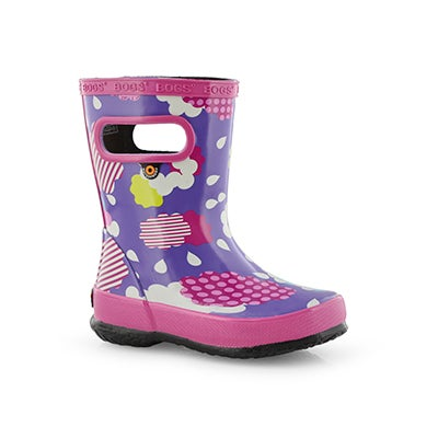 Inf-g Skipper Clouds vio mlti rain boot