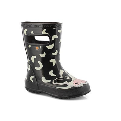 Inf-b Skipper Animals cow blk mlti boot