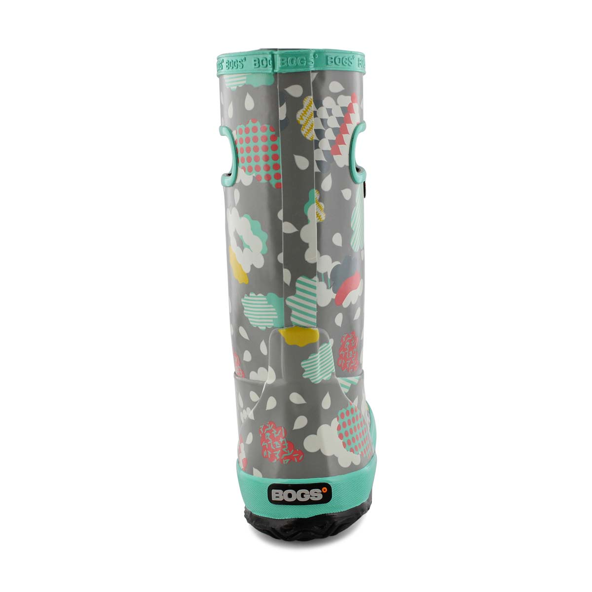 Grls Rain Boot Clouds gry mlti rain boot
