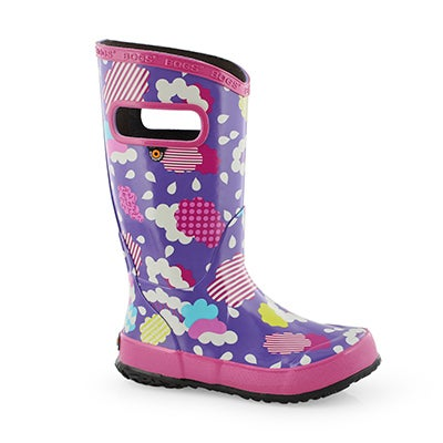 Grls Rain Boot Clouds vio mlti rain boot