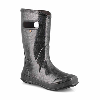Grls Rainboot Glitter black rain boot