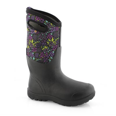 Lds Neo-Classic Tall NW Garden blk boot
