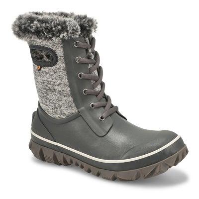 Lds Arcata Knit grey multi wtpf boot