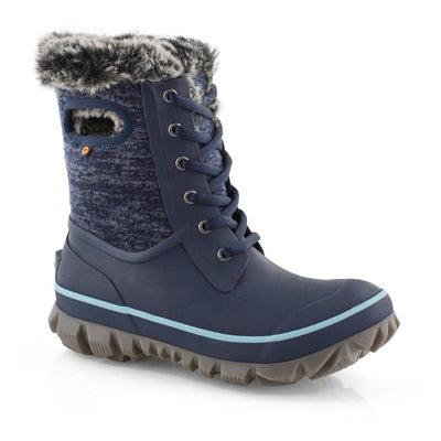 Lds Arcata Knit blue multi wtpf boot