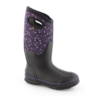 Lds Classic Tall Freckle Flowers bk boot