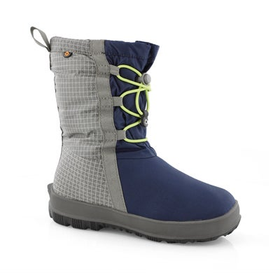 Grls Snownights nvy multi wtpf boot