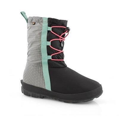 Grls Snownights blk/pnk wtpf boot
