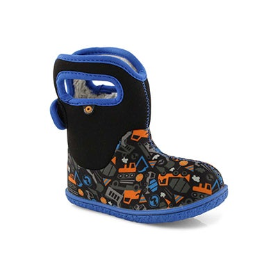 Inf-b Baby Bogs Construction blk wp boot