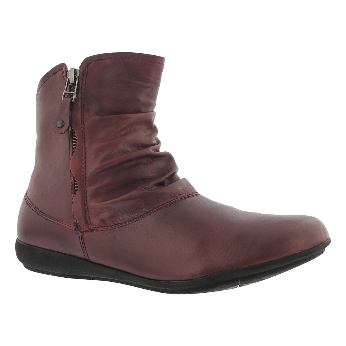 Women's FAYE 05 sangria leather casual booties