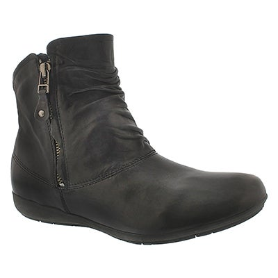 Josef Seibel Women's FAYE 05 black leather casual booties